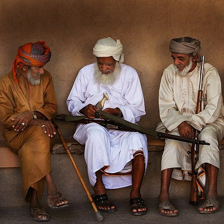 Brothers in arms - Nizwa Souq