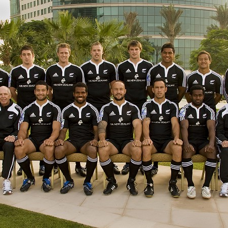 NZ All Black Sevens team - Dubai 2008