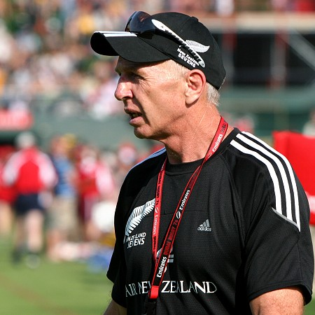Sir Gordon Tietjens. Celebrated former coach of the NZ All Black Sevens.