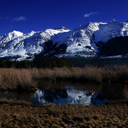 Mountain reflections - Queenstown, South Island