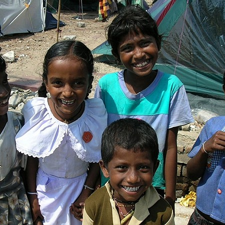 Happy faces - Living in a tent, left with nothing, these children with their smiles brought joy to my heart